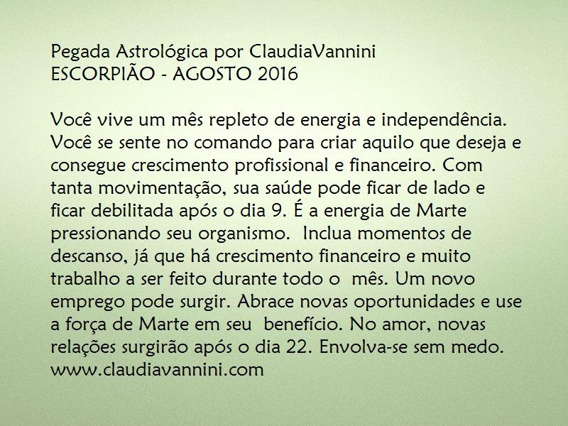 ESCORPIÃO AGOSTO 2016