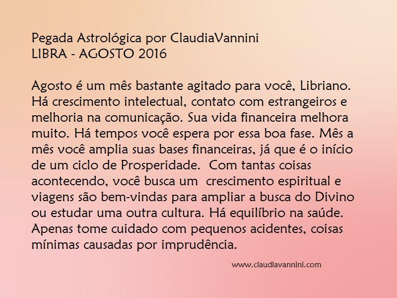LIBRA AGOSTO 2016