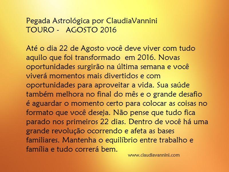 TOURO AGOSTO 2016
